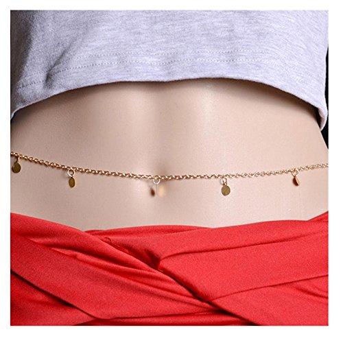 SMCTCRED Lega Cintura bikini delle donne del Choker cablaggio collana catena della pancia del corpo