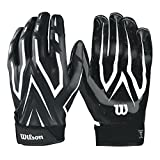 Best Football Gloves For Receivers - Wilson Clutch Receiver Gloves - Black, Large Review