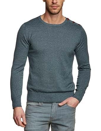 SELECTED HOMME Herren Pullover Regular Fit 16028792 Nevada split crew neck, Gr. 52 (L), Grün (Frosty Green)