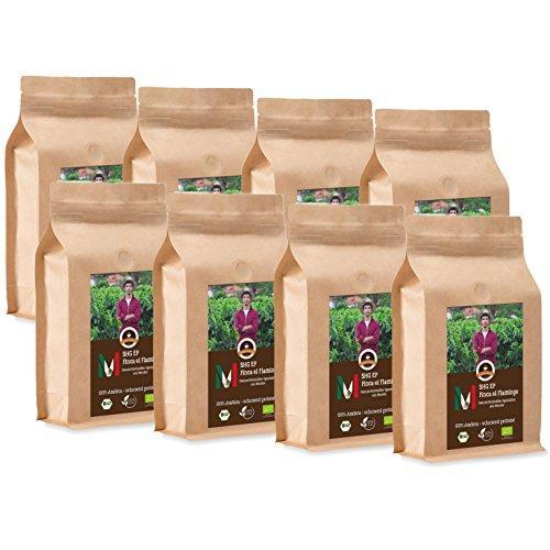 Kaffee Globetrotter - Mexico Finca El Flamingo - Bio - 8 x 1000 g Sehr Fein Gemahlen - für...