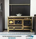 AluCouleur Credenza da cucina in Nero (RAL 9005) H 65cm x l 60cm  L 150cm, rosso, H 65 cm x L 70 cm