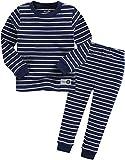 Jungen Langarm zweiteilig Schlafanzug Pajamas 2er Set Color Pen Navy M