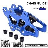 AnXin Protection CNC pour Guidage de chaîne de Moto Yamaha YZ125/250 08-19 YZ250F 07-19 YZ450F 07-19 YZ250X 16-19 WR250F 07-19 WR450F 07-18 YZ250FX 15-19 YZ450FX 16-19