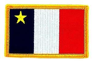 Patch écusson brodé drapeau acadie acadien flag thermocollant canada backpack