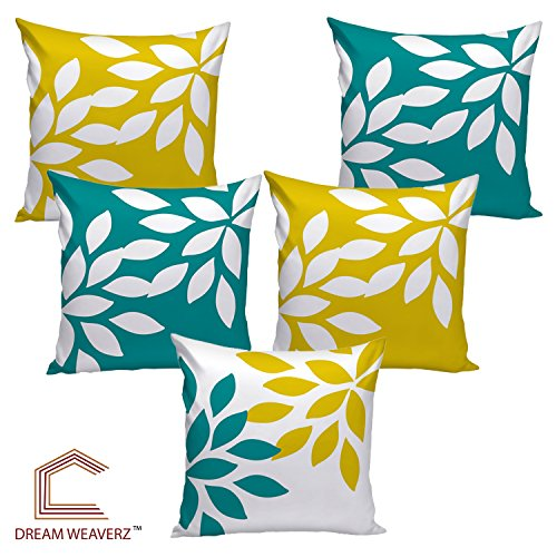 Dream Weaverz Stylish Abstract Leaf Print Cushion Cover, Made Of Velvet &...