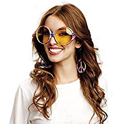 My Other Me - Gafas de hippie, talla única (Viving Costumes MOM01557)