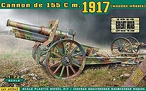 ACE Equipo Militar Modelo: Canon 155 cm de 1917 (Ruedas de Madera)