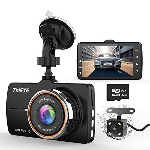 Caméra de Voiture, Thieye Dashcam 3.2 Pouces Full HD 1080P...