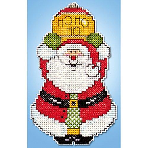 Tobin 14 Count Santa Ornament Plastic Canvas Kit, 4 by 3 by Tobin -