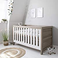 Tutti Bambini Modena Nursery Cot Bed - Converts into a Junior and Sofa Bed (White & Oak)