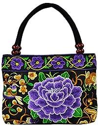 2f14de31b68e7 My Other monedero cartera Bolsa Boho Hobo hmong con bordado Vintage estilo  étnico bolso Bandolera de mujer Bolsa con llavero con Flor de…