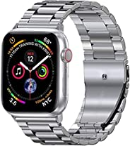 accessoryME Replacement Band Compatible with Apple Watch, Stainless Steel Strap Metal Bracelet for Apple Watch