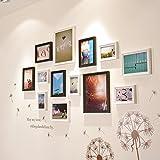 Foto Wandschmuck Wand kreative Bilderrahmen Bilderrahmen Wand Foto Wohnwand weiss schwarz Nussbaum Farbe