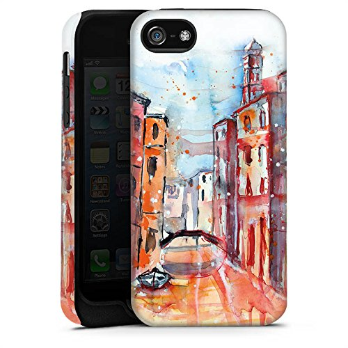 Apple iPhone X Silikon Hülle Case Schutzhülle Venice Venedig Gemälde Tough Case matt
