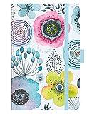 Premium Timer Small Aquarellblüten 2019: Buchkalender - Terminplaner mit hochwertiger Folienveredelung und Prägung. 9 x 14 cm