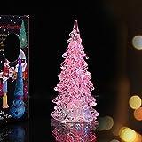 HUAYANG Hübsche Weihnachtsbaum Eiskristall Farbwechsel LED Schreibtisch Dekor / Table Lampe Licht