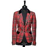 The Scotland Kilt Company Neue Luxus Formelle Schottisch Damen Tartan Blazer in Königsblau Stewart - Größe Wählen - Königliche Stewart, 8