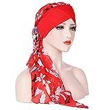 Cathy02Marshall Damen Elegante Schnee Spinnen Weich Chemo Turban Mütze Kopftuch für Chemotherapie,Krebs,Haarverlust