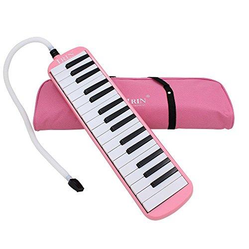 Ammoon 32Tasten Melodica Piano Instrument der Musikpädagogik das Geschenk der Kinder Anfänger mit Tragetasche Rosa