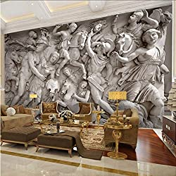 Zxfcccky Wandbild Benutzerdefinierte 3D Fototapete Europäischen Retro Römischen Statuen Kunst Wandbild Restaurant Wohnzimmer Sofa Backdrops Wand Papier Wandbild 3D-120X100CM