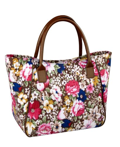 sachi-98-086-insulated-fashion-lunch-tote-brown-floral-with-handle