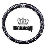 Black-Rain, coprivolante per auto da ragazza, in lattice, con corona e diamanti, collezione moda