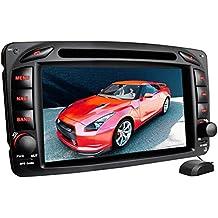 """XM-01Z Autoradio adatto per Mercedes W203 W168 C209 W209 W463 I navigatore GPS I Funzione vivavoce Bluetooth I schermo touchscreen 7"""" I Porta USB I Slot per schede Micro SD I 2 DIN"""