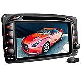 XOMAX XM-01Z Autoradio passend für Mercedes W203, W463 mit GPS Navigation I Bluetooth Freisprecheinrichtung I 7''/18cm Touchscreen Bildschirm I USB, Micro SD, AUX, DVD, CD I 2 DIN