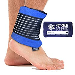 Gelpacksdirect Reusable Hotcold Gel Ice Pack With Compress Ankle Wrap - Fast & Lasting Pain Relief