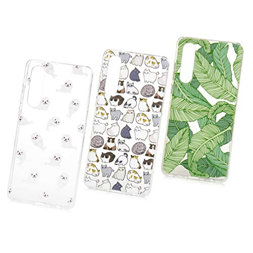 P30 Handyhülle Mädchen Handytasche Kompatible für Huawei P30 Hülle Silikon Case Cover Transparent Tasche Dünn Durchsichtige Schutzhülle Malen Muster Skin Softcase Schale Bumper*3 Handycover-Set4