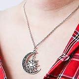 simsly Retro Mond Sonne und Star Halskette Zubehör Schmuck Lied von Eis und Feuer verstellbar für Frauen und Mädchen