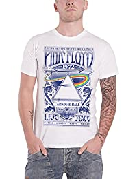 Pink Floyd T Shirt Carnegie Hall Live on Stage Poster Official Mens White