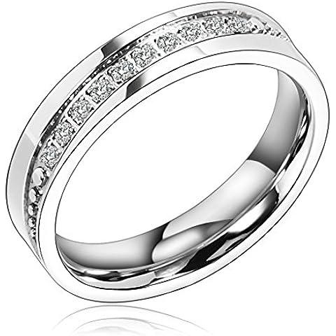 Bishilin 5MM Anello Acciaio Uomo Anello di Modas Smooth Edge Anello Matrimonio Anelli Fidanzamentos Comfort Fit