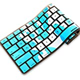 iBenzer - Macaron Serie Camouflage Blue Keyboard Cover Silicone Rubber Skin for Macbook Pro 13'' 15'' 17'' (with or without Retina Display) Macbook Air 13'' and iMac - Camouflage Blue MKC02CBL
