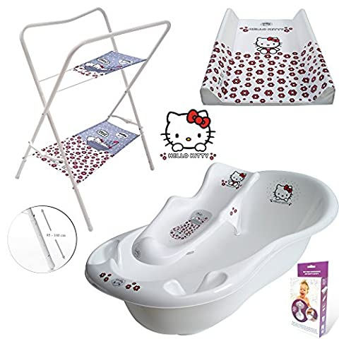 GoFuture Luxury Baby Bath with Plug, 3 Piece Set, 102 cm, Bath Seat, Rack, Changing Mat