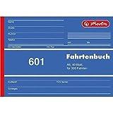 Fahrtenbuch, für PKW, A6 quer, 40 Blatt, für 390 Fahrten, 5er-Pack