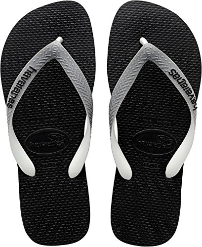 Havaianas Top Mix Infradito, Unisex Adulto, Negro - Black (Black/Steel Grey 6328), 35/36 EU (BR 33/34)