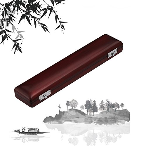 Festnight Wooden Flute Case Box Halter Ahorn Massivholz für 17-Loch-Flöten