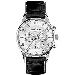 Jacques Lemans Men's Quartz Watch London 1-1654B with Leather Strap