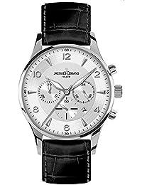 Jacques Lemans Herren-Armbanduhr XL London Chronograph Quarz Leder 1-1654B