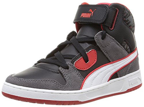 Puma Puma Rebound Street Wcamo Jr, Unisex-Kinder Hohe Sneakers Grau (steel gray-black-white-high risk red 02)