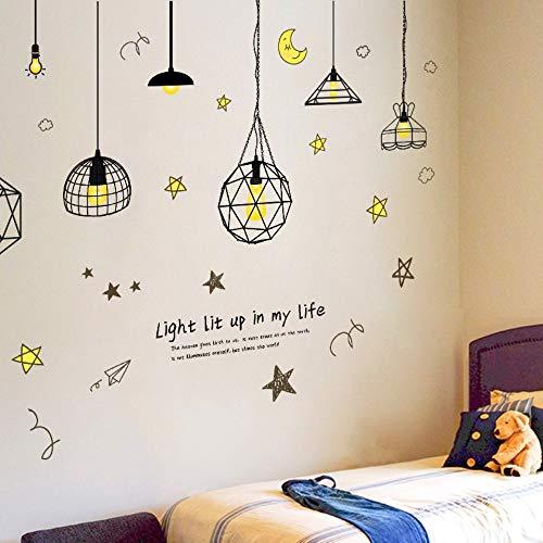 Abnehmbare Art Vinyl Retro Edison Birne Kronleuchter Wandaufkleber Aufkleber Wandbild Room Decor Vintage Glühbirnen Aufkleber Aufkleber Poster