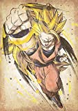 """Poster Dragon Ball """"Wanted"""" Goku SS3 (variant) - A3 (42x30 cm)"""