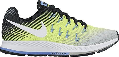 Nike Wmns Air Zoom Pegasus 33, Entraînement de course femme Matte Silver/White-Volt-Black