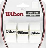 Wilson Griffbänder Comfort Pro Overgrip 3er Pack, White, WRZ4014WH