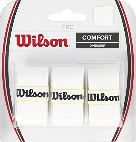 Wilson WRZ4014WH Nastro OverMateriale Grip per Racchetta da Tennis, Bianco