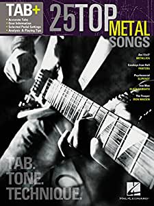 Tab+: 25 Top Metal Songs - Tab. Tone. Technique. Partitions pour Tablature Guitare