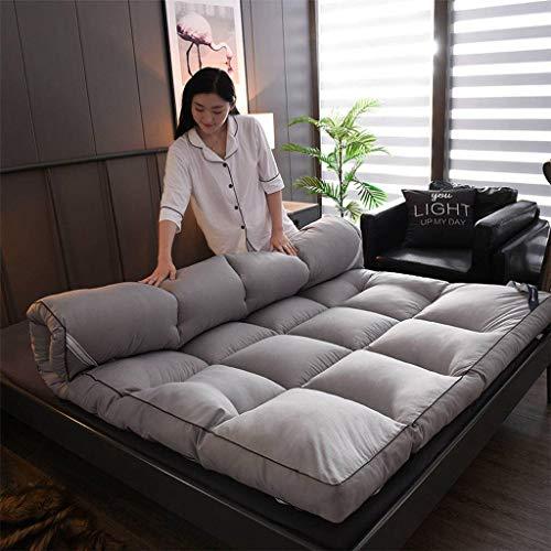 Giapponese pieghevole materasso letto futon, portatile tatami morbido allevia il mal di schiena materasso per residenza studentesca casa -grigio-90x200cm(35x79inch)