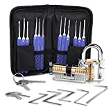 Lockpicking Lockpick Set Professionelles 19-teiliges Dietrich Set mit 2 Transparentem