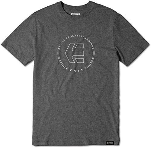 Etnies Herren T-Shirt ICON RINGER - SAND Charcoal/Heather
